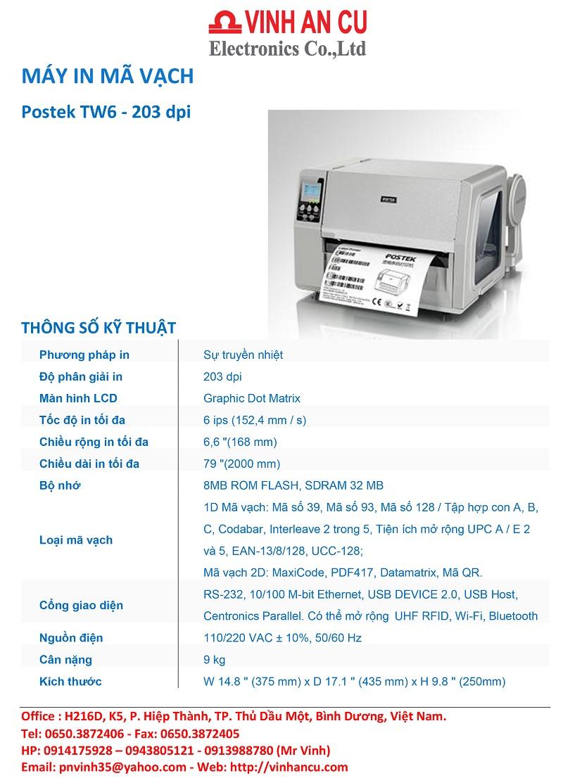 mua máy in tem Postek TW6 203 DPI