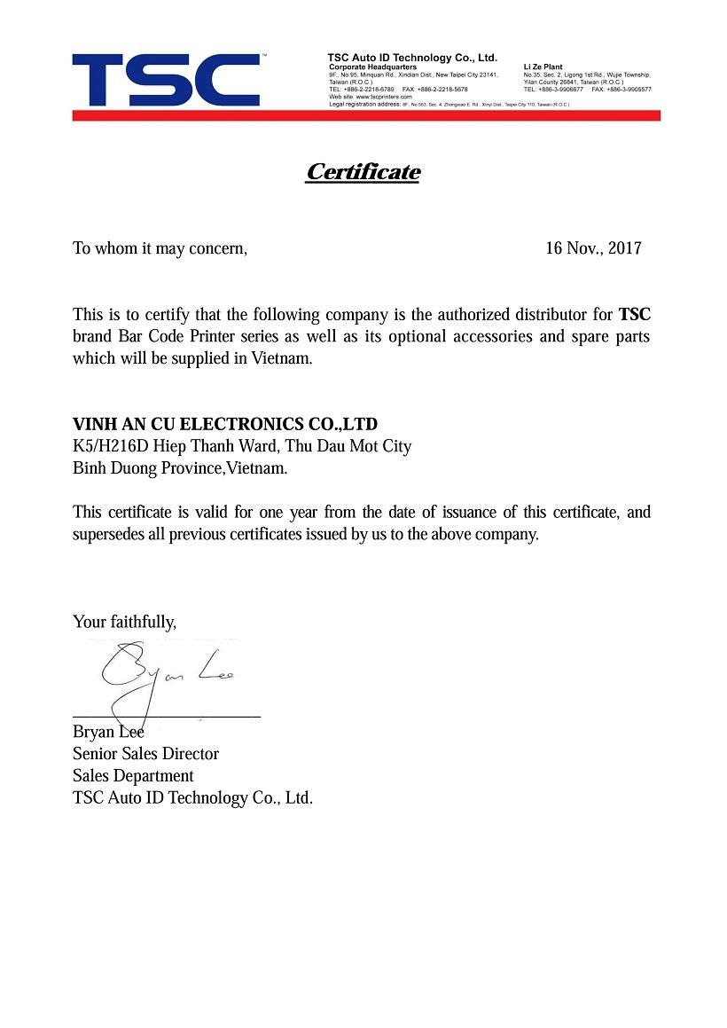 Đầu in TSC TTP 244 203 DPI